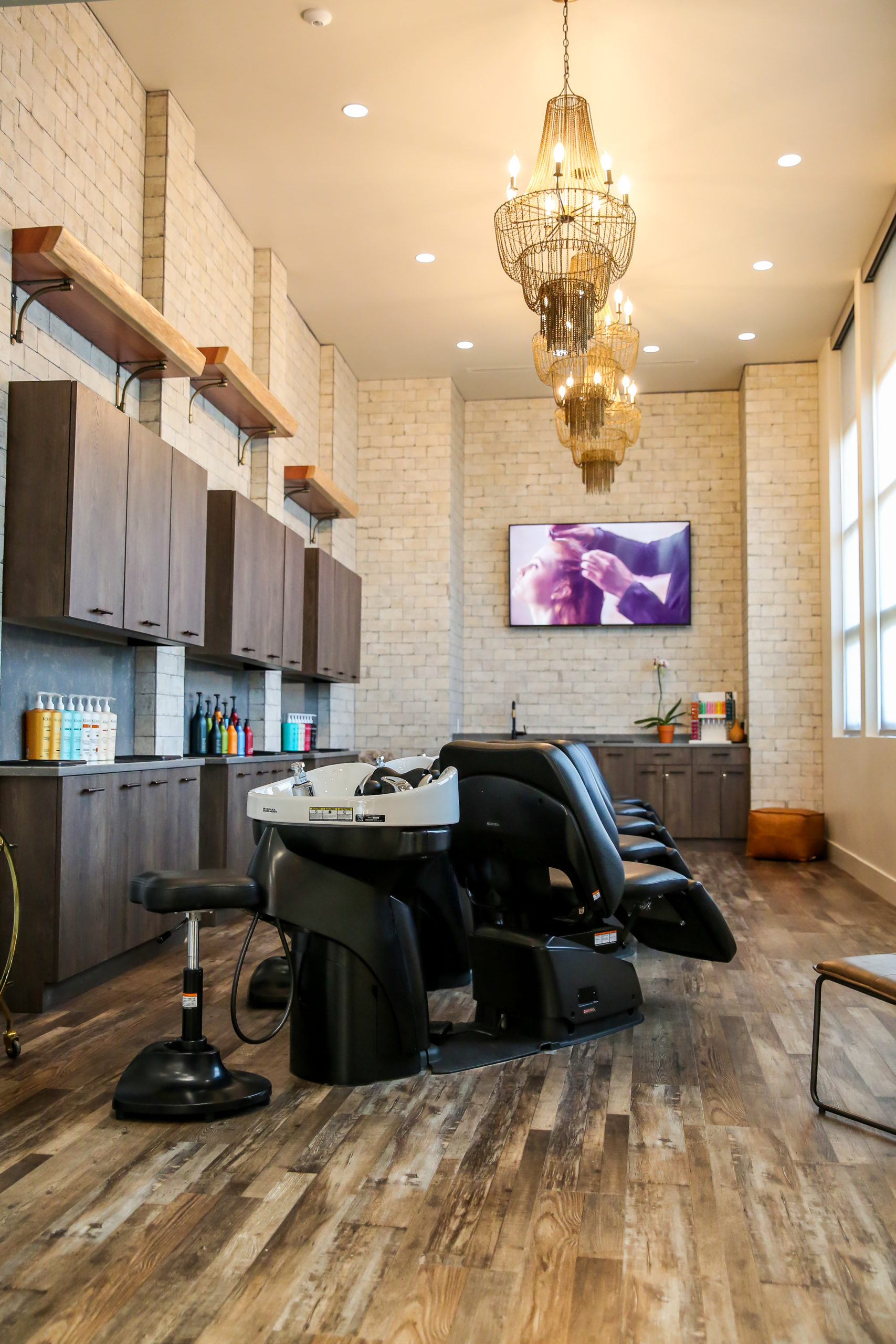 l'evation salon shampoo area